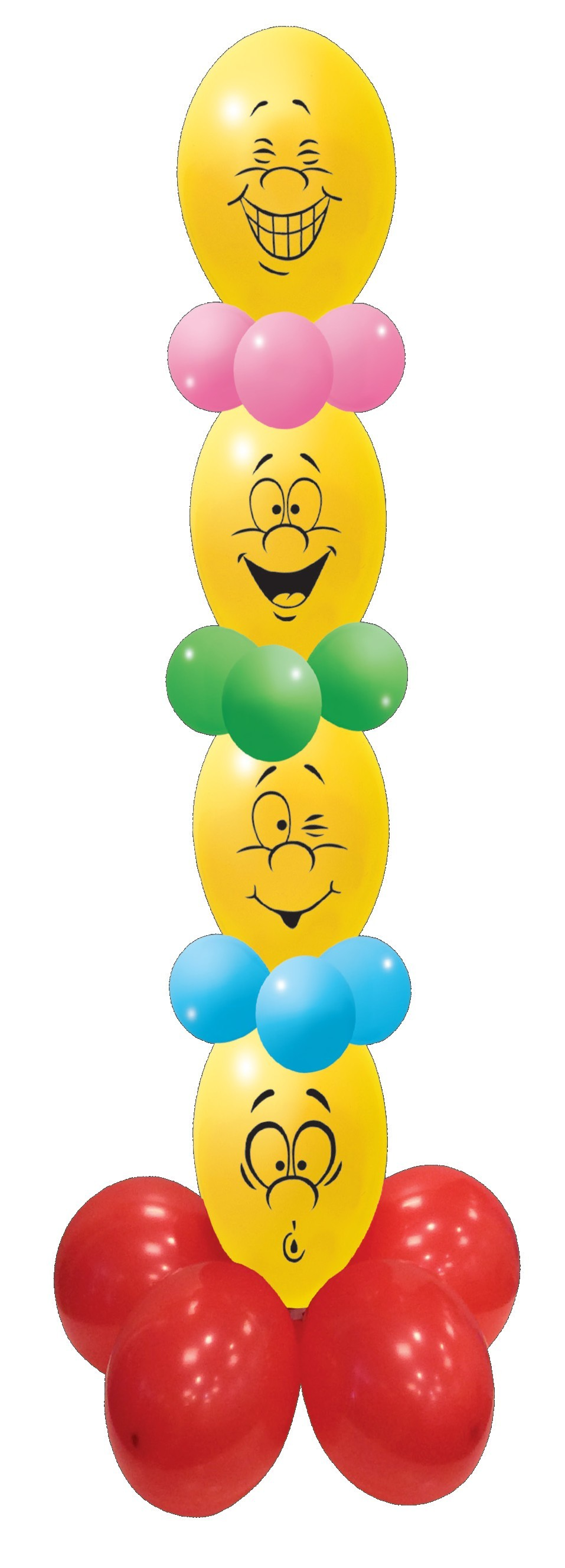 Mini kit decoratiune party baloane emoji