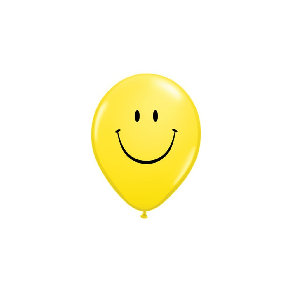 Set 10 baloane latex 28cm smiley face