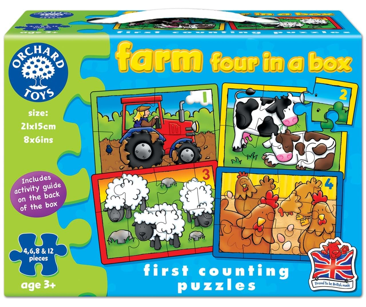 Set 4 puzzle la ferma 4 6 8 si 12 piese farm four in a box