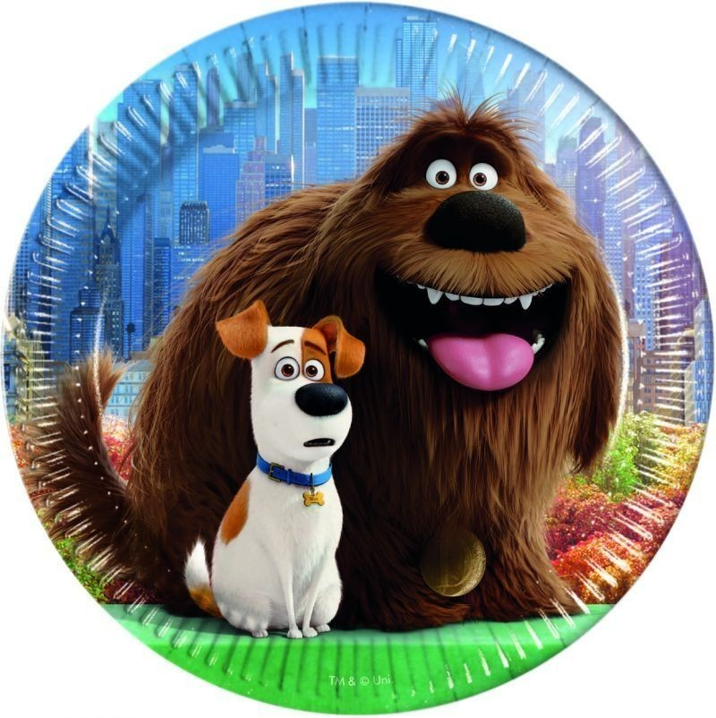 Set 8 farfurii party 23 cm secret life of pets