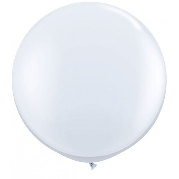 Balon jumbo latex alb - 90 cm