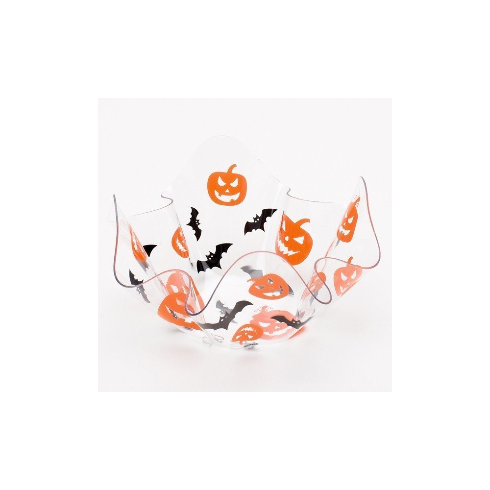 Bol transparent decorativ pentru halloween 13 x 13 cm