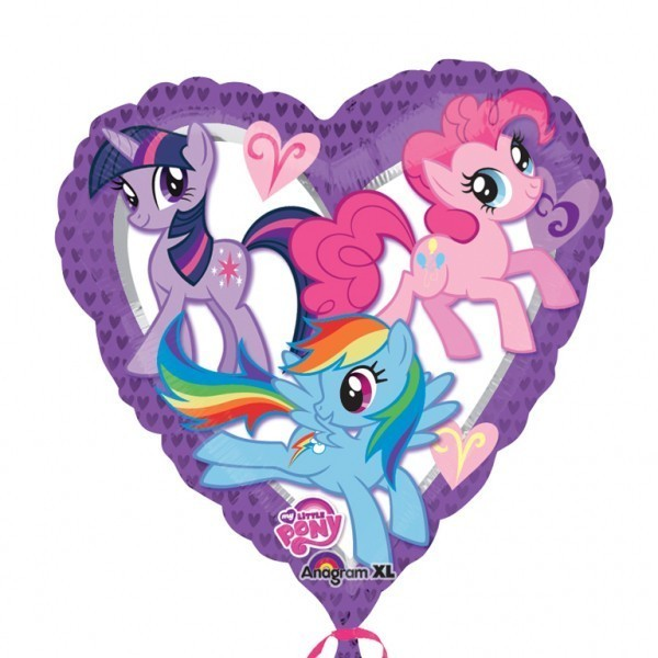 Balon folie 45 cm inima little pony