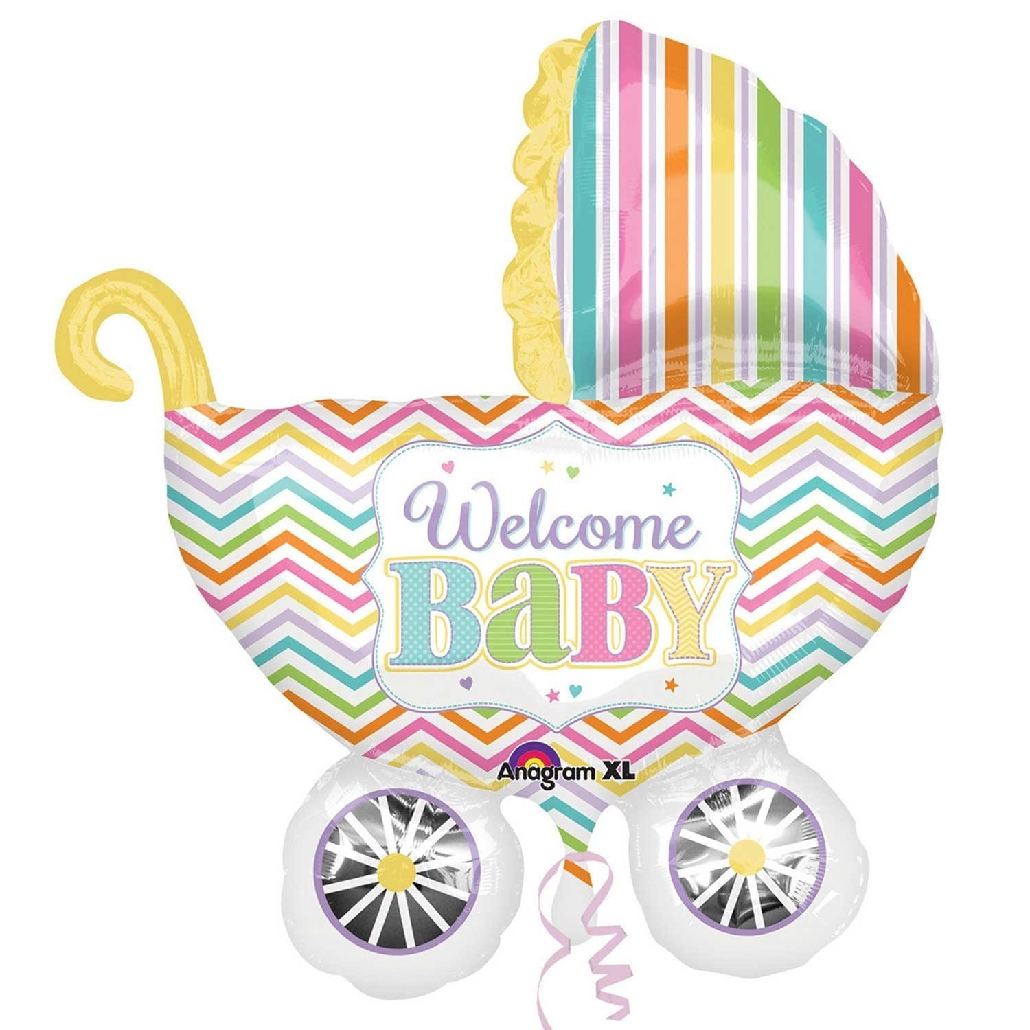 Balon folie figurina carucior welcome baby