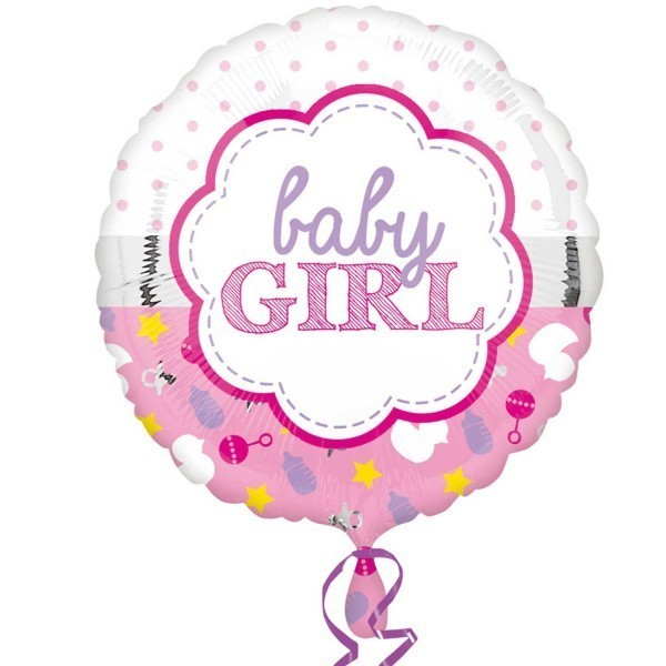 Balon folie 45 cm baby girl
