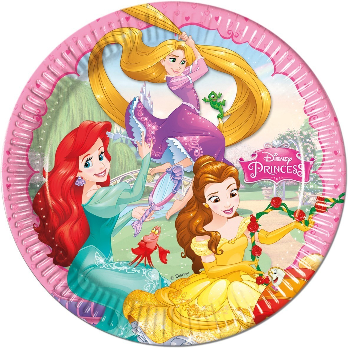 Set 8 farfurii party princess dreaming 23 cm