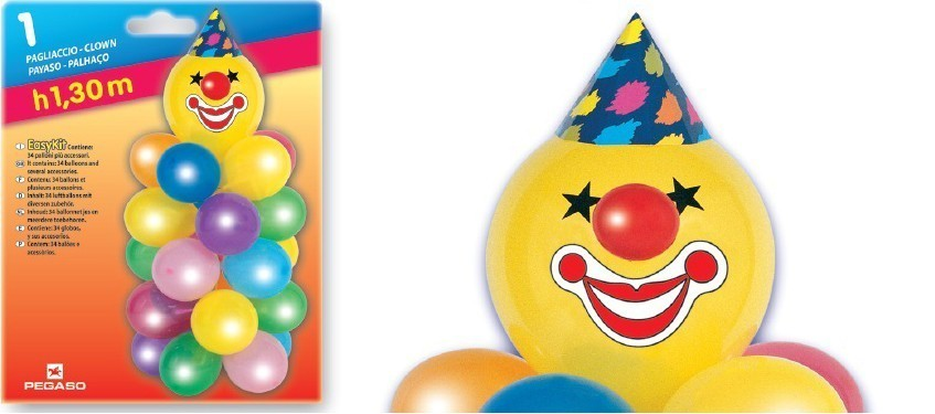 Easy kit decor clown baloane