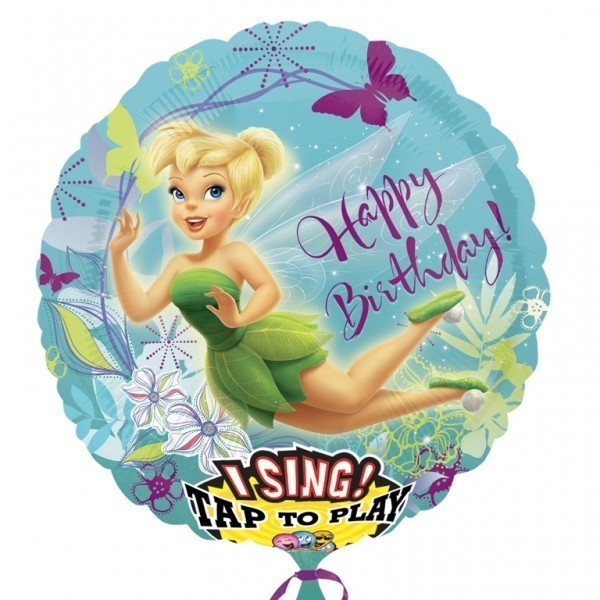 Folie jumbo muzicala happy birthday tinkerbell