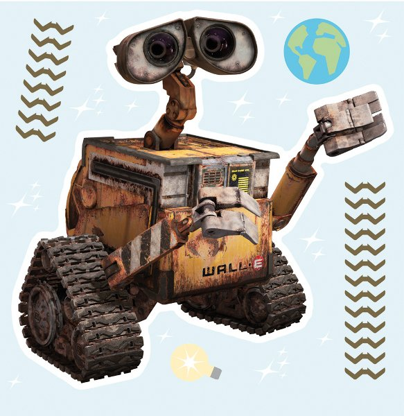 Sticker 3D fluorescent Wall-E