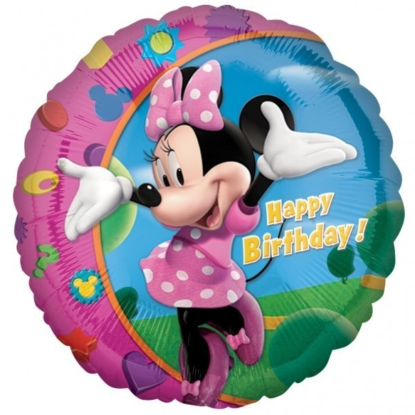Balon folie 45 cm minnie happy birthday
