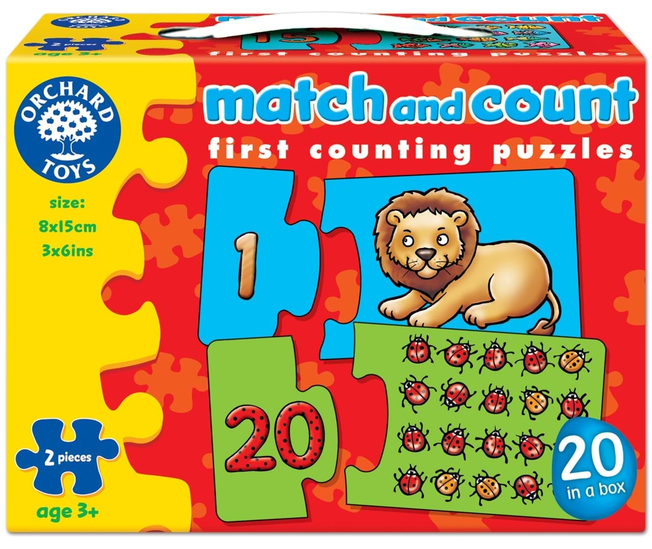 Puzzle potriveste si numara de la 1 la 20 match and count