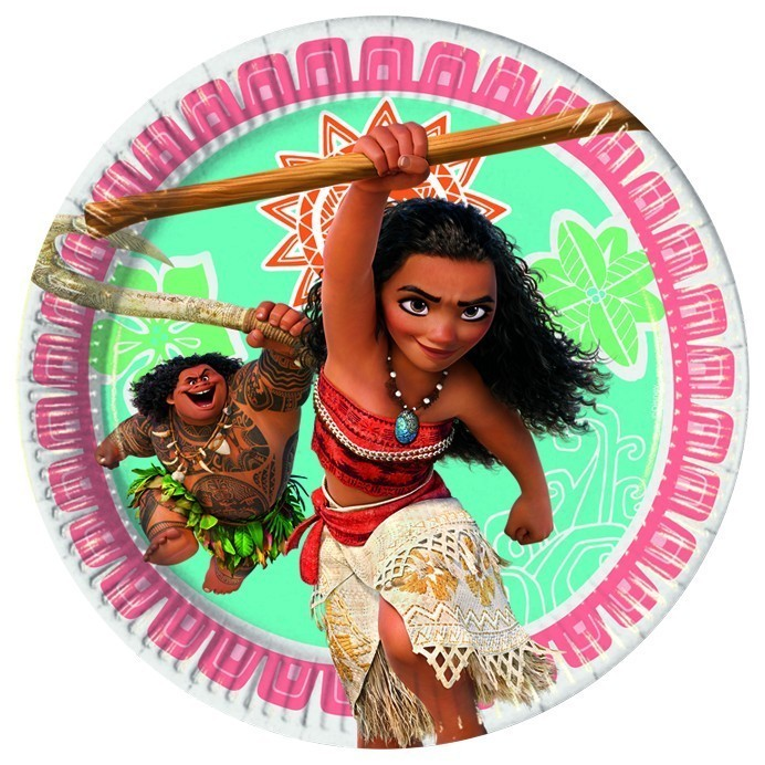 Set 8 farfurii party carton 20 cm moana