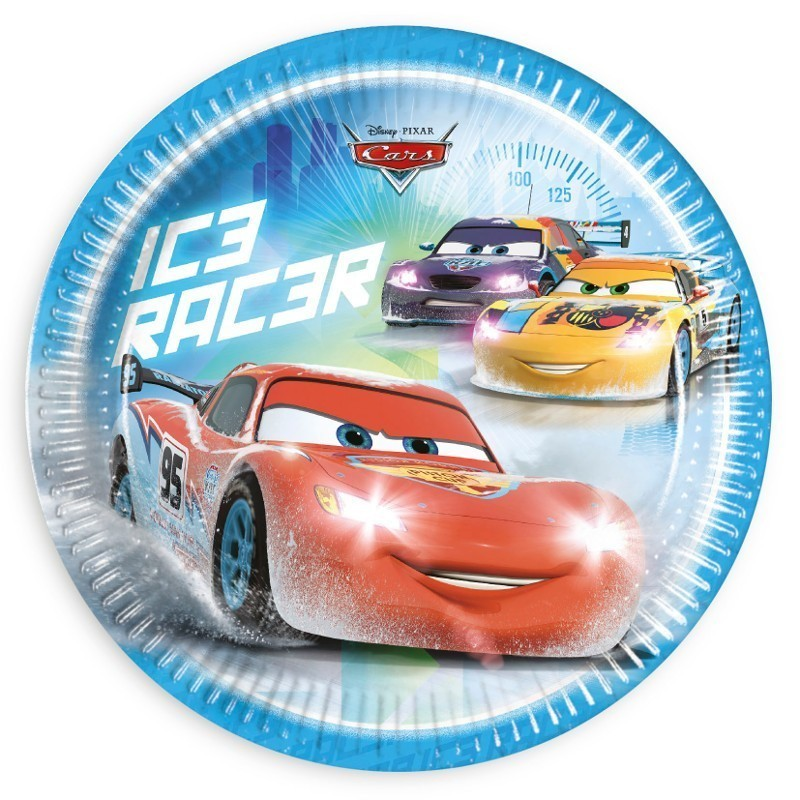 Set 8 farfurii 23 cm cars ice
