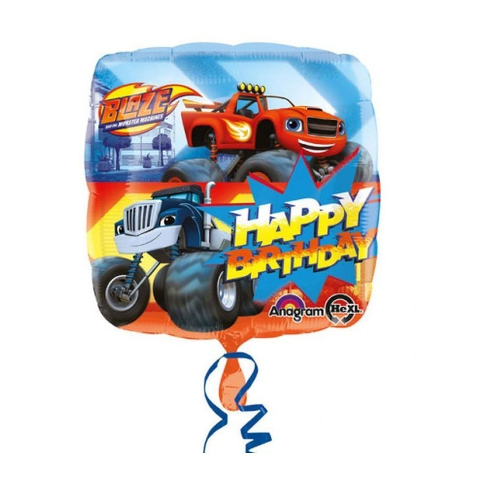 Balon folie blaze happy birthday 45 cm