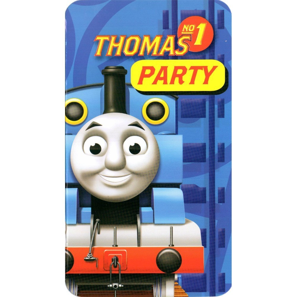 Set 6 invitatii de petrecere thomas and friends