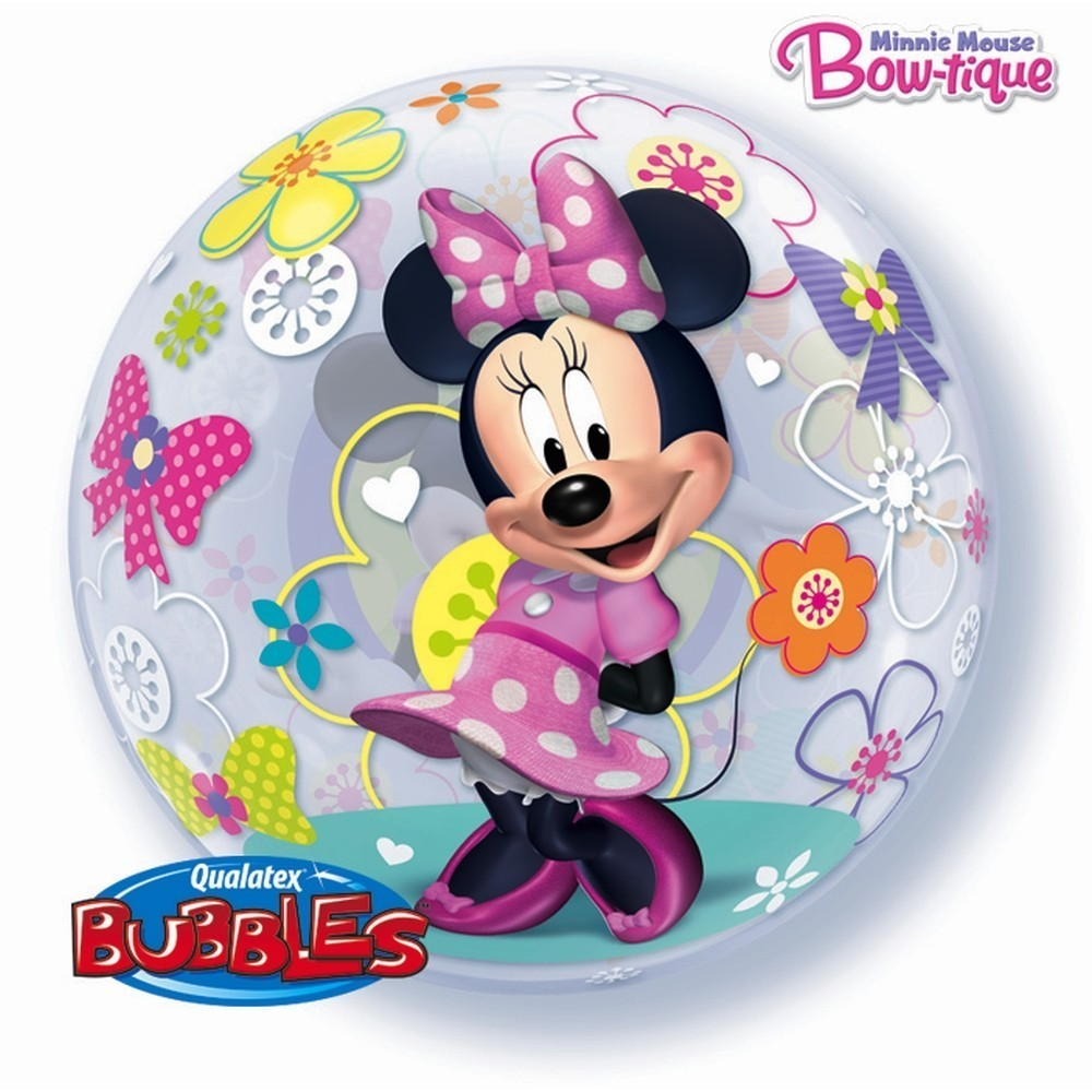 Balon bubble minnie mouse 56 cm