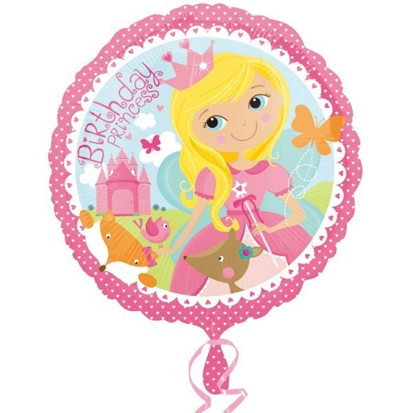 Balon folie 45 cm birthday princess