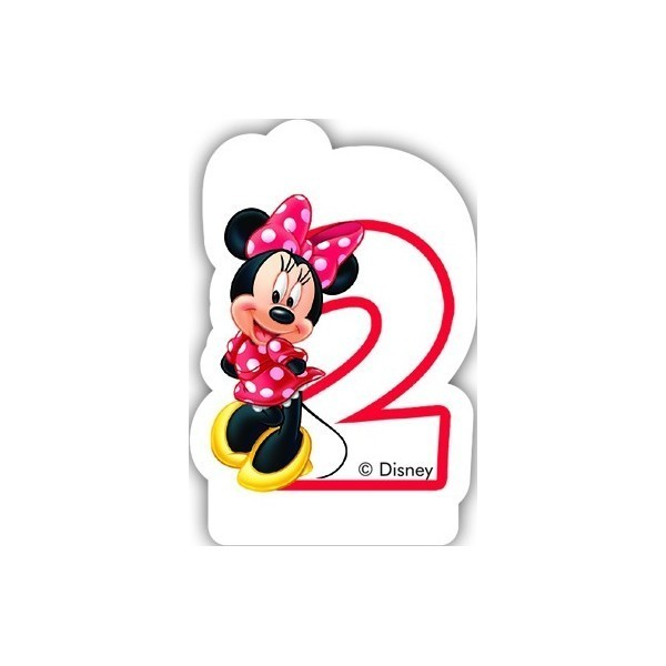 Lumanare tort Minnie Mouse 2 ani