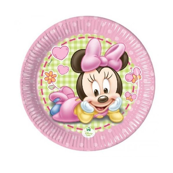 Farfurii petrecere copii 20 cm - Minnie Mouse Baby