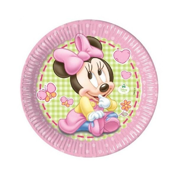 Farfurii petrecere copii 23 cm - Minnie Mouse Baby
