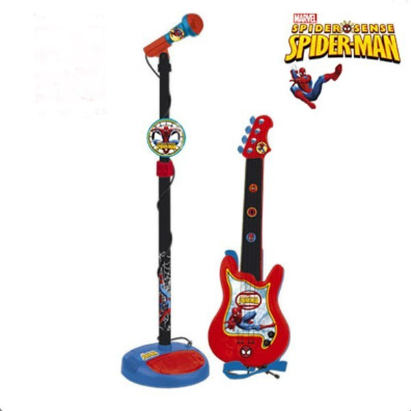 Set chitara si microfon spiderman