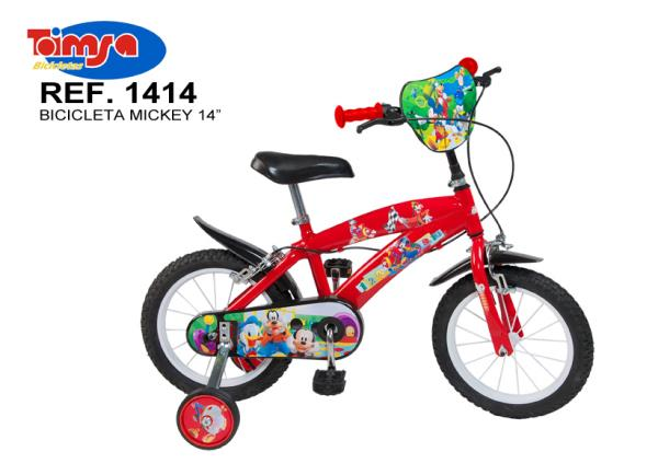Bicicleta 14 mickey mouse club house baieti