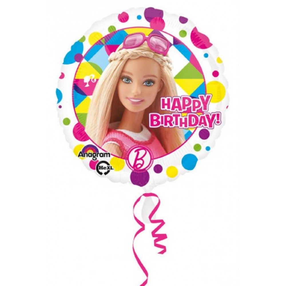 Balon folie 45 cm barbie sparkle happy birthday