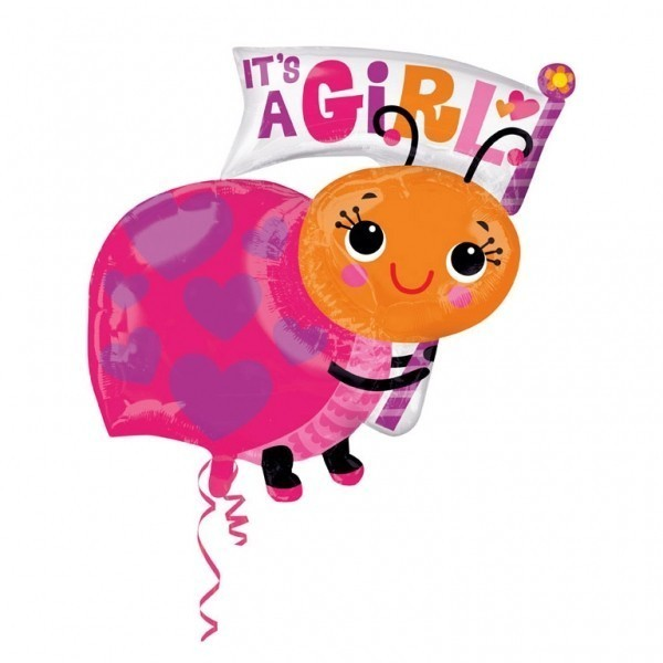 Balon folie figurina buburuza its a girl