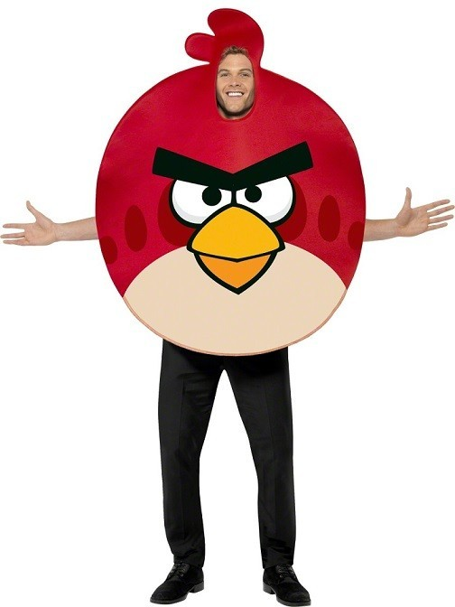 Costum Angry Birds Adult Red
