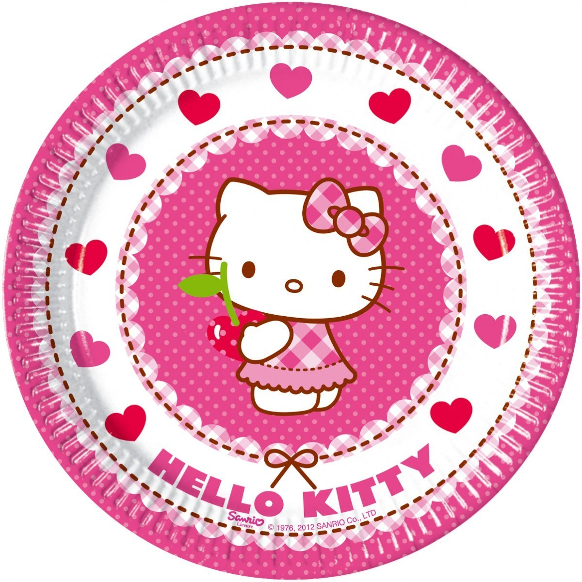 Farfurii-Hello-Kitty-Hearts-20-cm