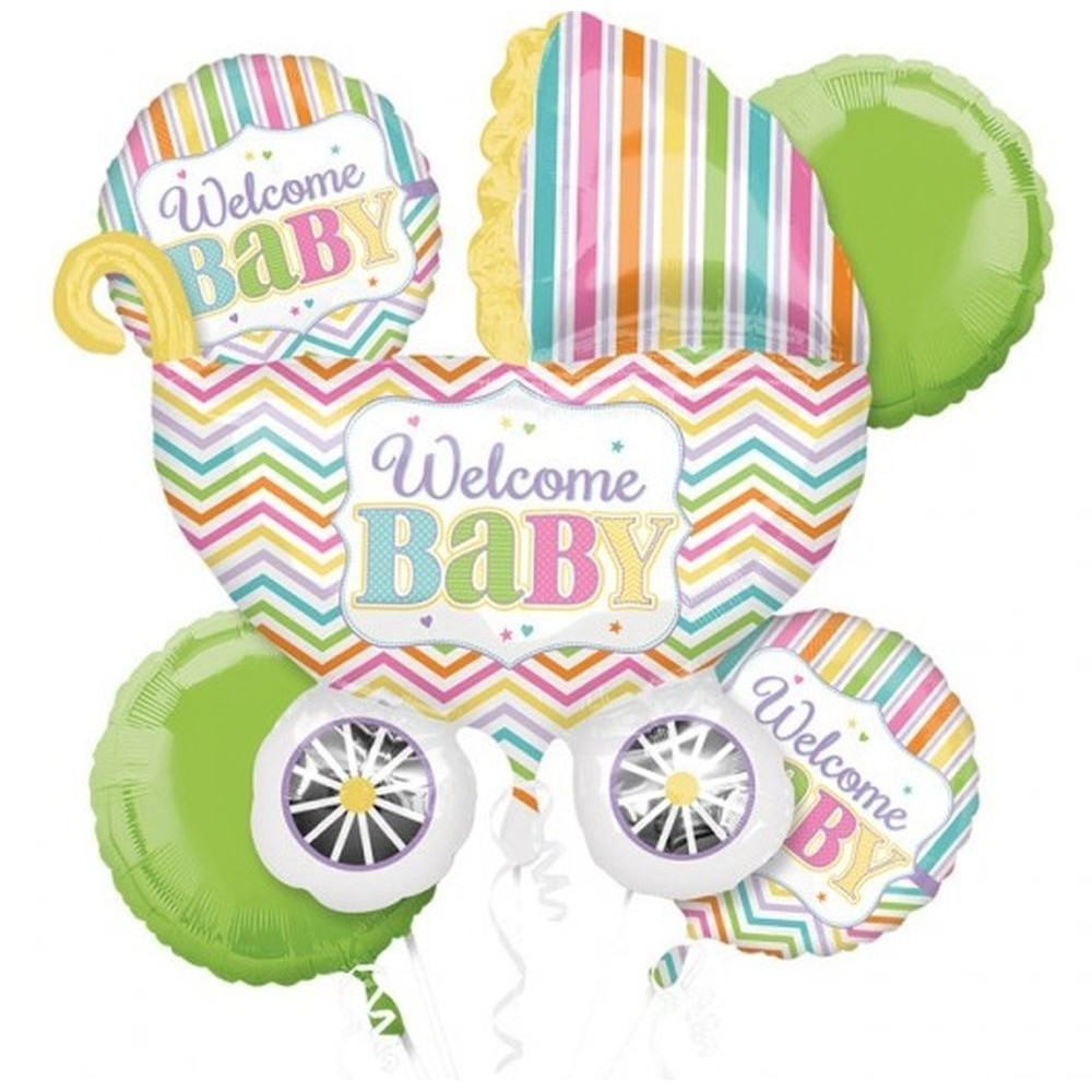Buchet baloane welcome baby set 5 buc