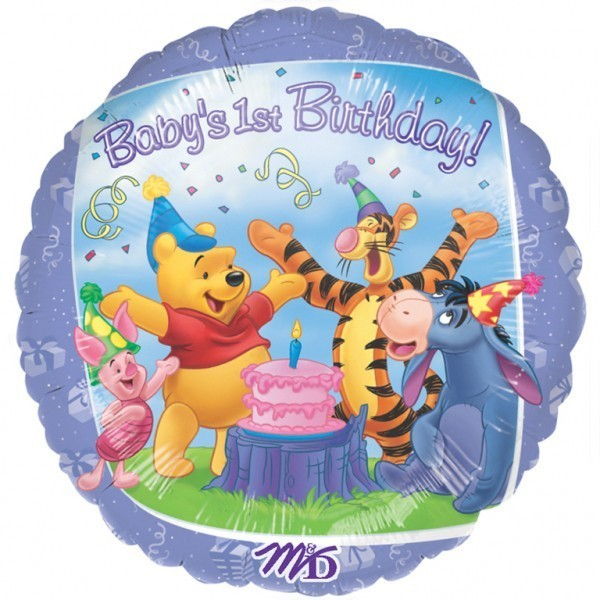 Balon folie 45 cm winnie 1st birthday