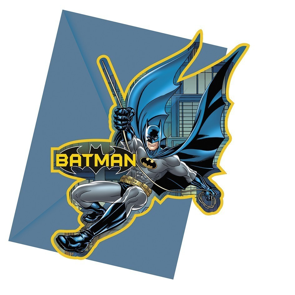 Set 6 invitatii party batman dark hero