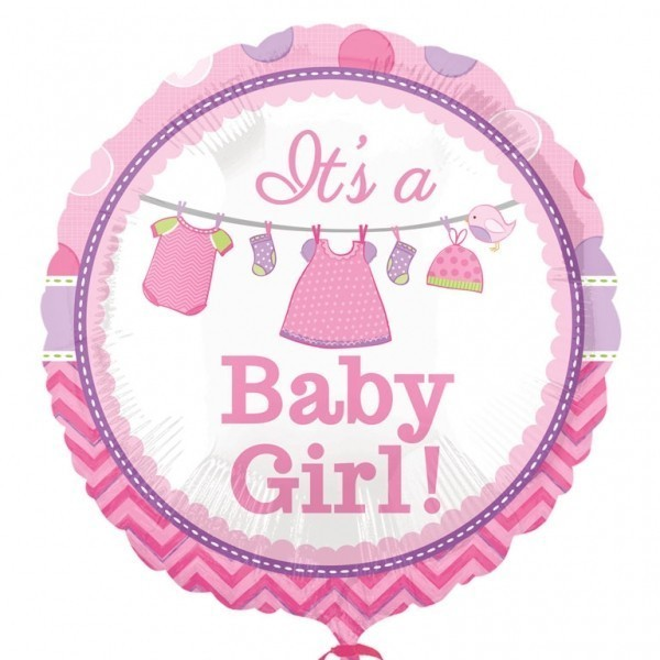 Balon folie 45 cm its a girl hainute