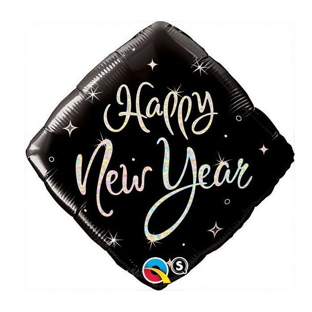 Balon folie patrat happy new year 45 cm