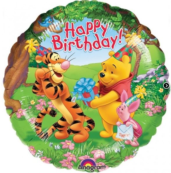 Balon Winnie Happy Birthday