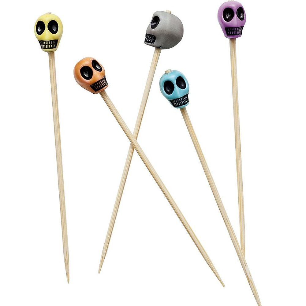 Set 25 scobitori decorative cu cranii halloween