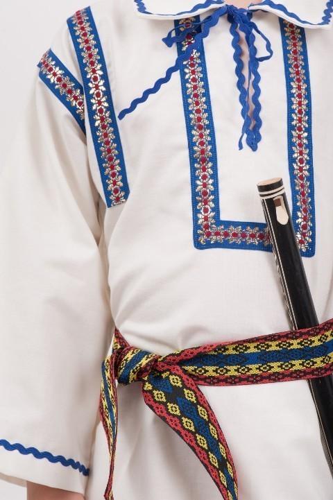 Brau costum national tricolor