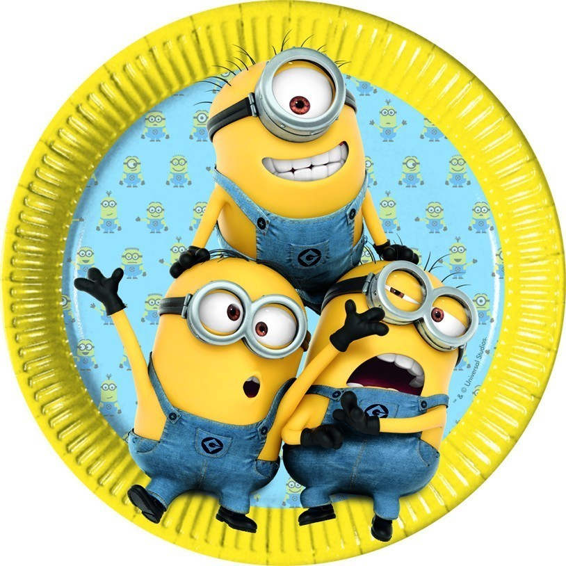 Set 8 farfurii party 23 cm lovely minions