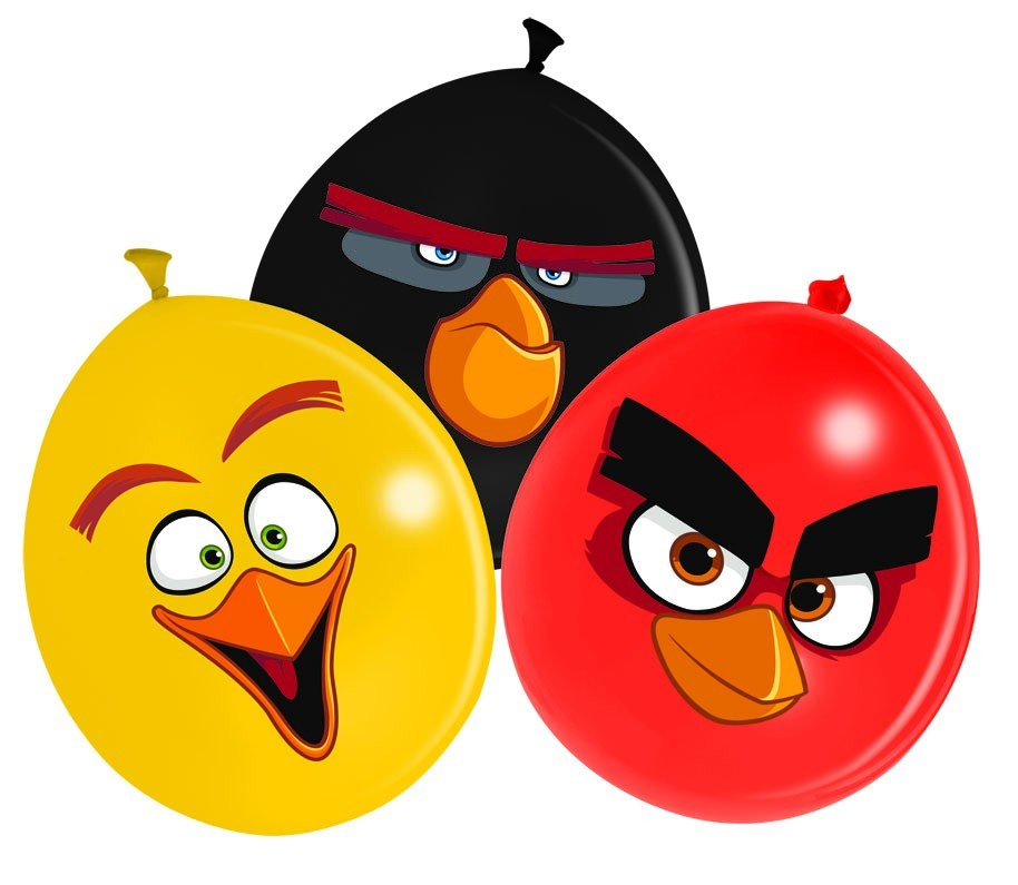 Set 12 baloane party 30 cm angry birds