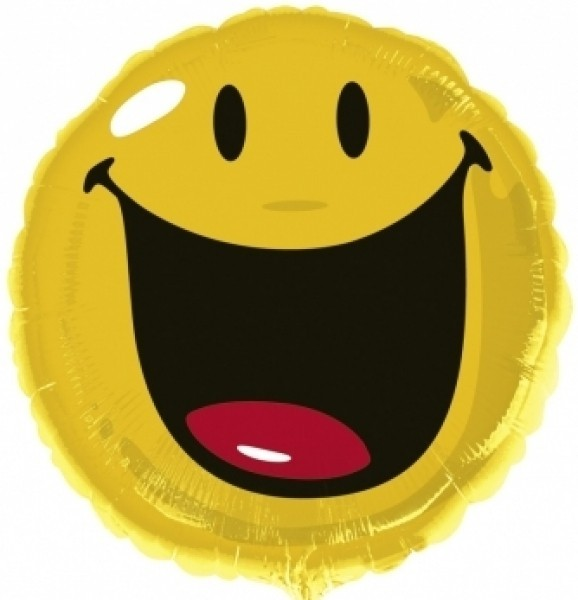 Balon folie 45 cm smiley face