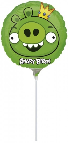 Balon mini folie angry birds king pig