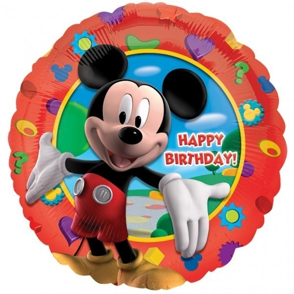 Balon folie 45 cm mickey clubhouse happy birthday