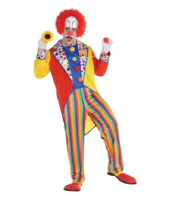 Costum clown adulti multicolor