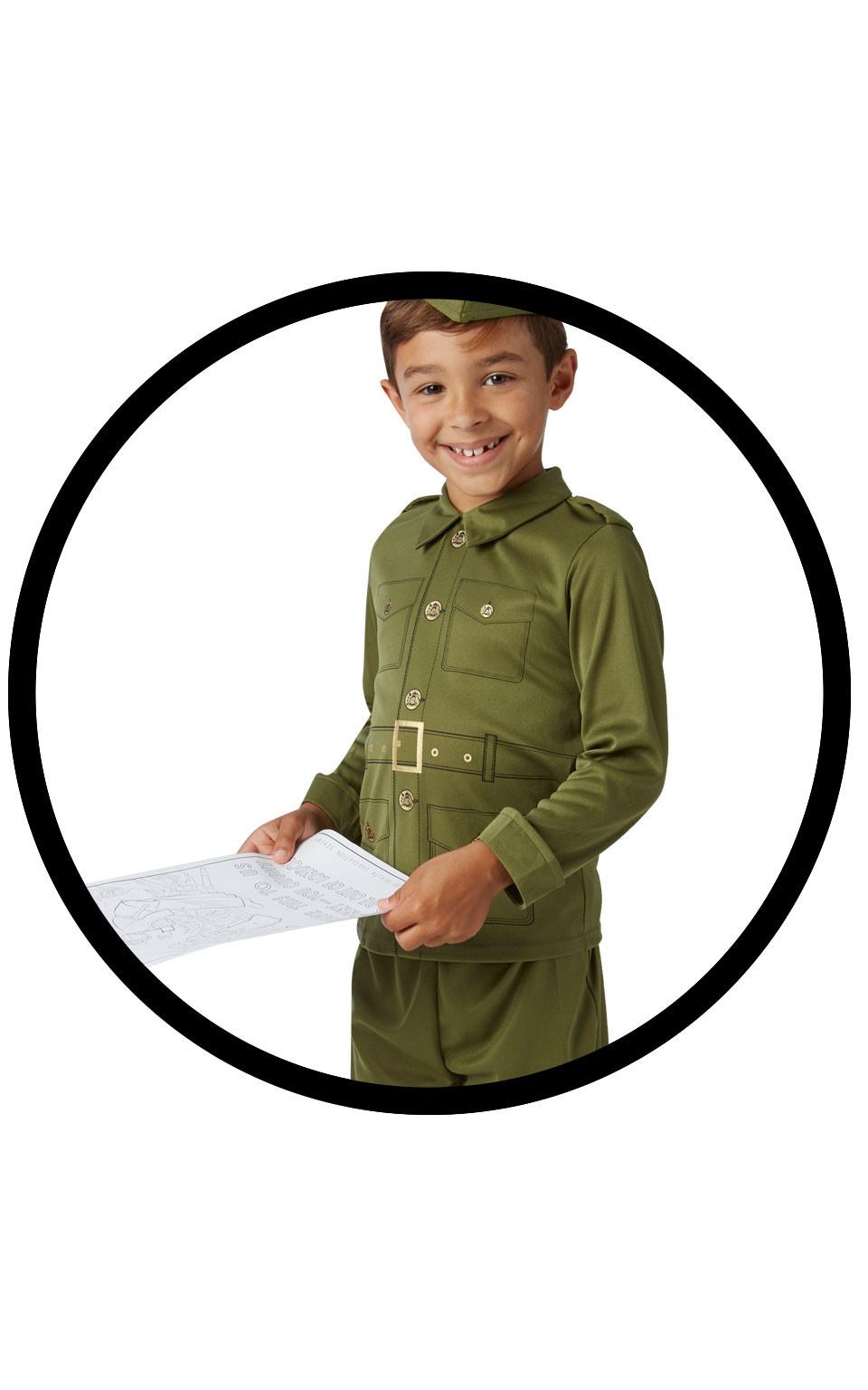 Costum Soldat German Copii Cu Planse De Colorat