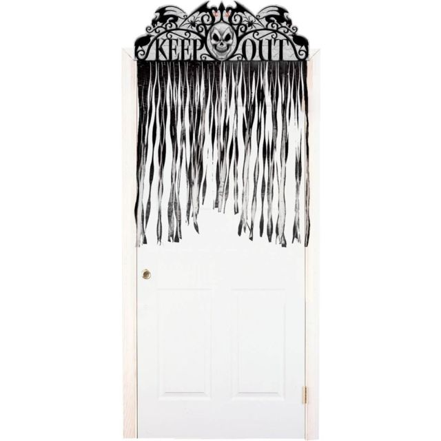 Decor usa Halloween perdea sinistra Keep Out