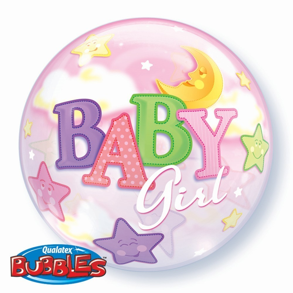 Balon bubble baby girl 56 cm