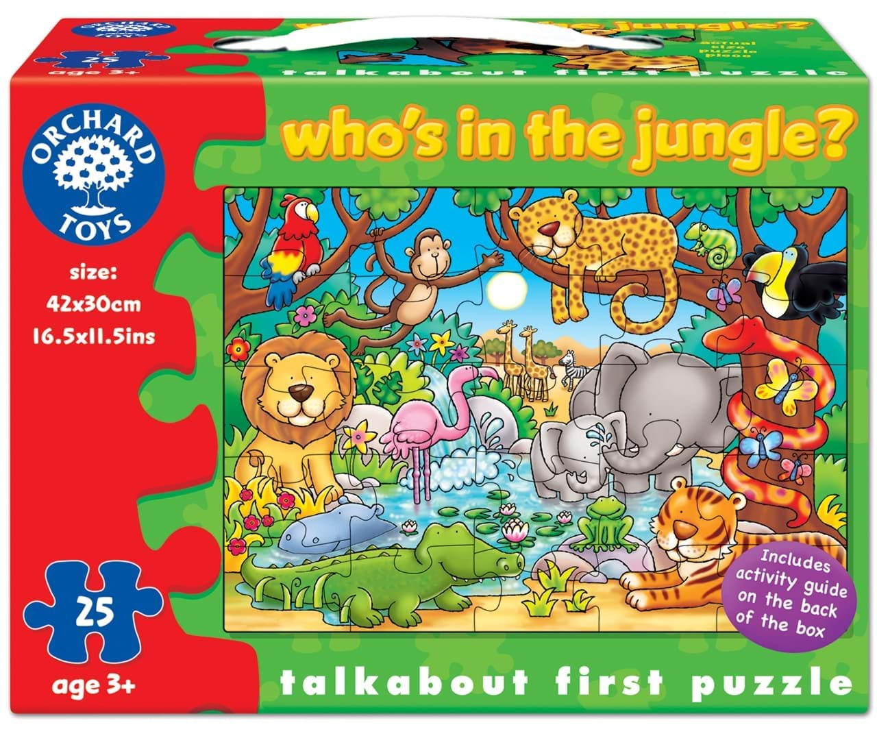 Puzzle cu activitati cine este in jungla whos in the jungle