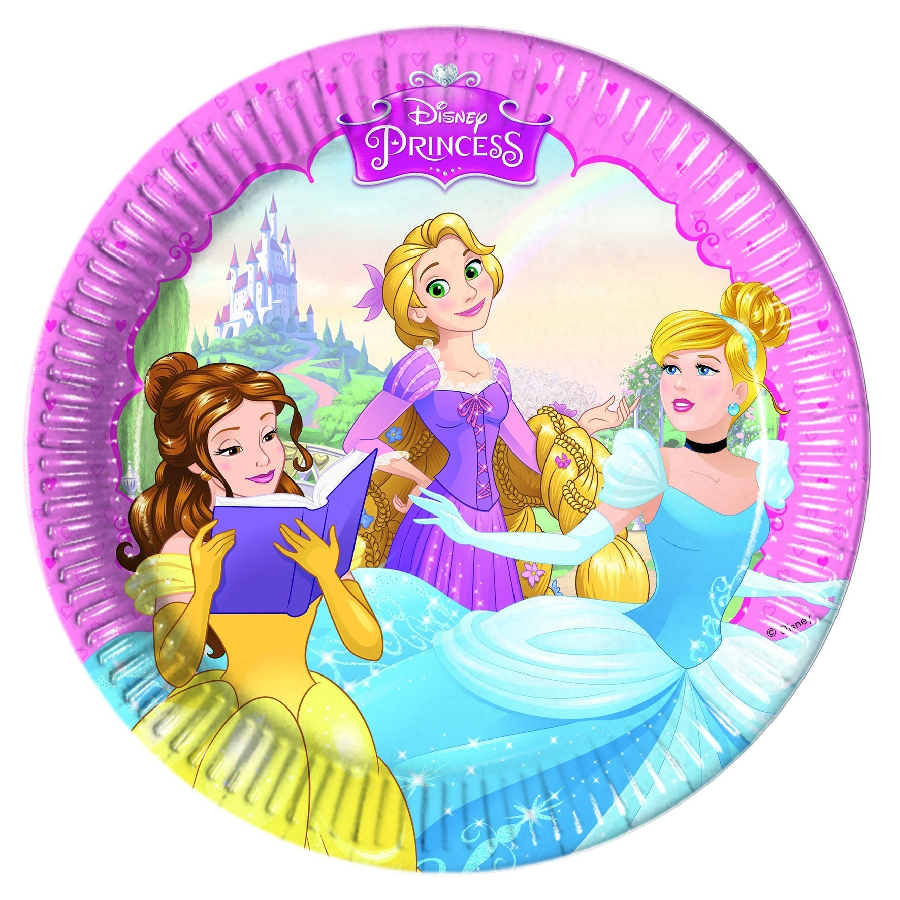 Set 8 farfurii party 20 cm princess dreaming