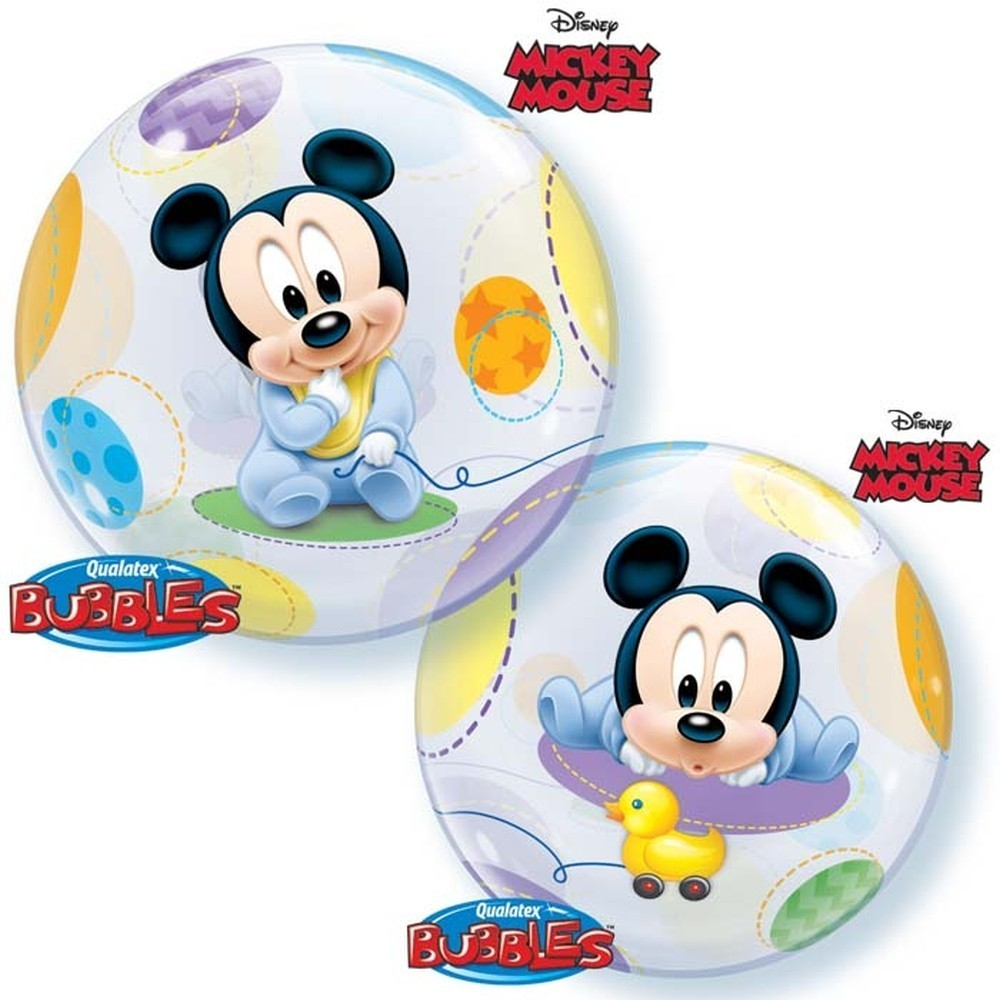 Balon bubble mickey mouse baby 56 cm
